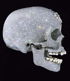 For the love of God, a life size cast of a human skull in platinum by British artist Damien Hirst is seen in this handout image released in London. © Ho New / Reuters/REUTERS Damien Hirst, Vanitas, Crane, Diamond Skull, Human Skull, Illustrations, Skull And Bones, Skull Art, Diamond Are A Girls Best Friend