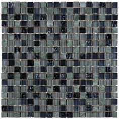 This tile features a deep night inspired mosaic that features a mix of glass and stone textures. Smooth blue metallic foil-backed glass and natural stone mix beautifully in this tile to create a multi-dimensional effect.