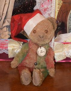 Vintage Teddy Bear Teddy Bears of Witney Mr. Jingles CUTE! Jointed Mohair Artist Toy for Doll