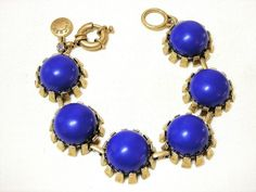 J Crew Blue Bead Link Bracelet #JCrew #Beaded