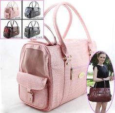 Fashion Patent leather dog carriers Pet Carrier Dog Bags For Small Pets 4 Colors