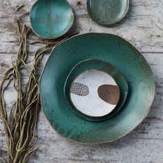 It's taken sooo long to get this green glaze just right but I think it's been worth all the frustration!! #susansimonini #ceramics #pottery #australianceramics #ceramicdesign #tableware #ceramicstudio #clay #stoneware #handmade #handbuilt