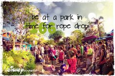 A Disney Bucket List- Be at park in time for rope drop--DONE!