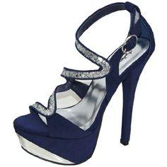 Sandalias azul con plateado (modelo nuevo)