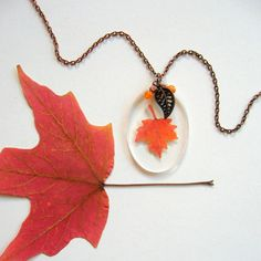 Hey, I found this really awesome Etsy listing at https://www.etsy.com/listing/476569843/real-autumn-maple-leaf-woodland-necklace