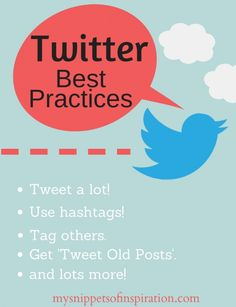 Twitter Best Practices - Snippets of Inspiration