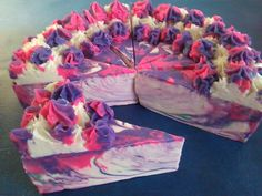 Making and Cutting 'Mother's Love Spell'  Mother's Day Soapcake