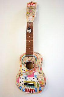 Now that I heard of MYO uke kits, I want to paint one. Ukulele Instrument, Ukulele Art, Cool Ukulele, Ukulele Chords, Guitar Art, Ukulele Songs, Painted Ukulele, Play That Funky Music, Musician Gifts
