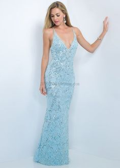 2016 Beaded Straps a Line Long Island Blue Prom Dresses for Sweet ...