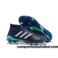 official photos 18fbb ba48f Botas De Futbol Adidas Predator 18.1 FG Negro Blanco Azul Oscuro Web