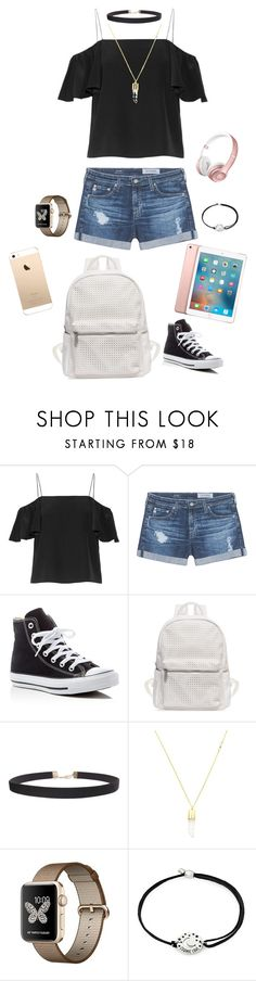 """""""Isabel go to school"""" by kokoroyukiyumiko ❤ liked on Polyvore featuring Fendi, AG Adriano Goldschmied, Converse, Urban Originals, Humble Chic, Beats by Dr. Dre, Alex and Ani and Apple"""