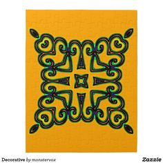 Decorative Jigsaw Puzzle #Decorative #Ornament #Design #Game #Jigsaw #Puzzle