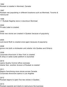 The Evolution of Rudsak