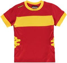 Kappa Remilio Shorts Sleeve T-Shirt Kinder Boys Red/Yellow T Shirt Top, Sports Direct, Brand Sale, Sleeve Designs, Boys T Shirts, Bleu Marine, Kappa, Kids Outfits, Short Sleeves