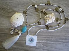 White and turquoise =#beach days  beautiful tassel range for summer days out now