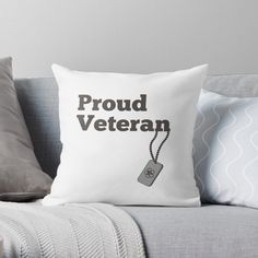 'Proud Veteran - army hero' Throw Pillow by RIVEofficial