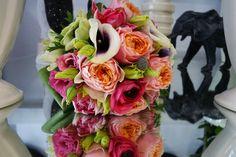 Brautstrauß-Lachs-Pink