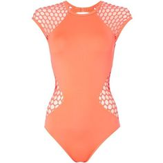 Seafolly Mesh about surf swimsuit ($170) ❤ liked on Polyvore featuring swimwear, one-piece swimsuits, orange, women, seafolly, orange one piece swimsuit, seafolly swimwear, swimsuit swimwear and one piece swimsuits