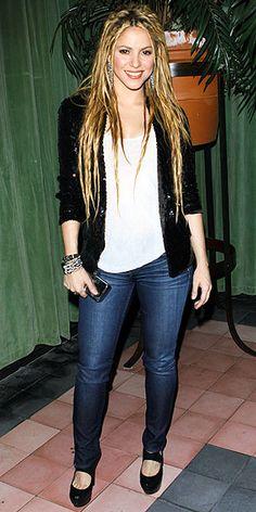Pear-shaped dressing - Shakira