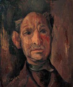 Self-portrait, 1928, Herman Kruyder.... Herman Kruyder (1881 –1935), was a Dutch painter,  born in Baarn,province of Utrecht. He was a member of Kunstkring Haarlem and  Kunst zij ons doel,(an artists club in the Waag, Haarlem)