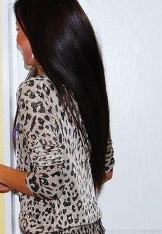 black shiny hair :)
