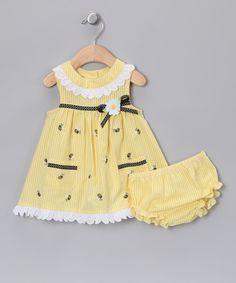 Yellow Bee Seersucker Dress - Infant & Toddler