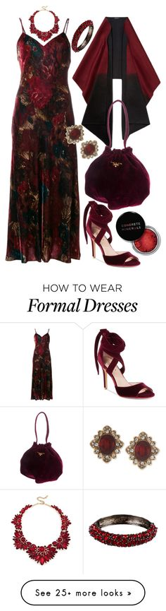 """""""Winter Formal"""" by shirley-degannes on Polyvore featuring Polo Ralph Lauren, Charles by Charles David, Lafayette 148 New York, Sole Society, Marchesa, Prada, Kenneth Jay Lane and Concrete Minerals"""