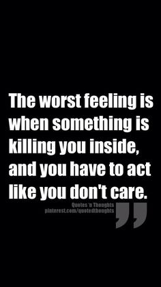 The worst thing...