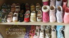 Organização de sapatos infantis