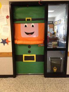 Spring door decorations classroom - Bing Images & Our Leprechaun door at school! I found something similar on ...