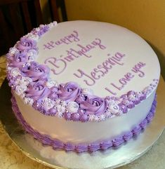 Love the wording. Look at oth cake i like colors and decoration. Cake Piping, Buttercream Cake, Fondant Cakes, Cupcake Cakes, Cake Decorating Videos, Birthday Cake Decorating, Cake Decorating Techniques, Bolo Red Velvet, 13 Birthday Cake