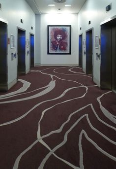 Cumberland Hotel Lift Lobby - Bespoke Axminster carpet design http://www.gaskell.co.uk/images_archive.html