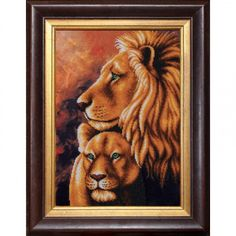 Lions Animals Bead Embroidery kit Beadwork Beaded Embroidery Kit DIY