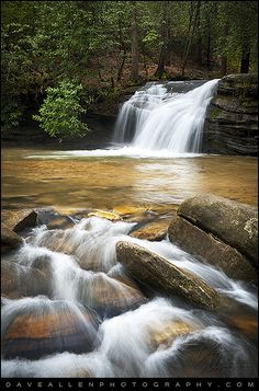 Carrick Creek Falls - Table Rock State Park By Dave Allen Photography-Table Rock State Park in Upstate SC