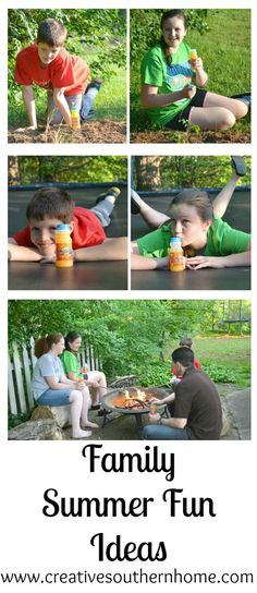 Easy Family Summer Fun ideas to make great memories with your family and SunnyD. #WhereFunBegins  #ad