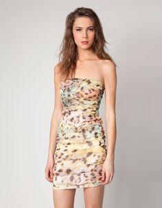 Bershka animalier print dress