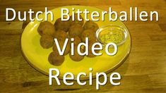 Video Homemade bitterballen - Recipe Dutch Bitterballs.