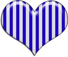 Blue and white striped heart Ana White, Blue And White, Gifs Ideas, Love Heart Emoji, Heart Clip Art, Clean Heart, Heart Attack Symptoms, Heart Background, Blue Flames