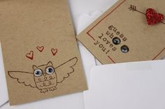 Valentine's Day Cards  Little Surprise Owl Love by kraze4paper, $12.00