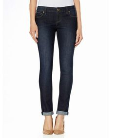 Look what I found on #zulily! Dark Wash 678 Roll Cuff Crop Jeans #zulilyfinds