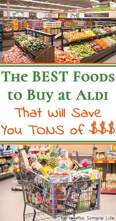 The Ultimate Guide to What to Buy at Aldi. If you've never tried to shop at Aldi, you need to so that you can save money on groceries. Click through to see what I buy at Aldi. Frugal Tips, Frugal Meals, Cheap Meals, Budget Meals, Aldi Shopping List, Shopping Hacks, Bargain Shopping, Aldi Prices, Aldi Recipes