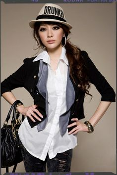 New Fashion Japan Double Breasted Suit Cotton Top
