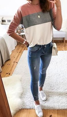 - casual outfits - goes with jeans. - casual outfits - goes with jeans. - The post 12 outfits casuales para el día a día appeared first on ub. 12 outfits casuales para el día a día Pin on Cute Outfits Outfit Jeans, Jeans And Sneakers Outfit, Sweater Outfits, Winter Outfits Women, Spring Outfits, Woman Outfits, Autumn Outfits For Teen Girls, Mode Outfits, Trendy Outfits