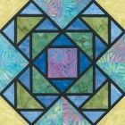 Stained Glass Stacking Boxes Quilt Block Pattern