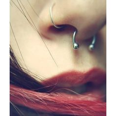Septum Piercing Tumblr Cool Eyecatching tatoos ❤ liked on Polyvore featuring piercings and tattoos and piercings