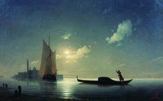 Гондольер на море ночью - 1843 год. Айвазовский Иван Константинович