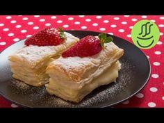Kremalı Muzlu Milföy Pasta - Milföy Hamurundan Kolay Tatlı Tarifi - YouTube