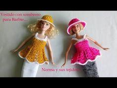 vestido de piñas para Barbie a crochet (parte 1) - YouTube