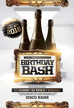 birthday bash party flyer template httpffflyercombirthday