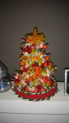 Hard candy xmas wreath